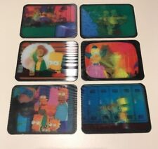 THE SIMPSONS Rare Mega Motion Cards Set Of 6 1997 Kelloggs Fruit Loops
