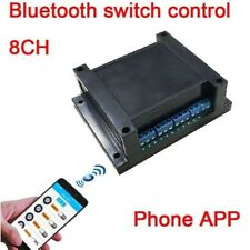 8CH 12V Bluetooth relay switch module phone APP wireless remote jog self-locking