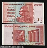 ZIMBABWE $20 TRILLION DOLLARS P89 2008 *REPLACEMENT UNC CURRENCY MONEY BILL NOTE