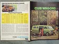1974 FORD CLUB WAGONS BROCHURE – CHATEAU, CAMPER, ECONOLINE – E100, E200, E300
