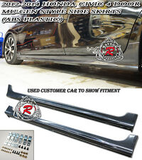 Mu-gen Style Side Skirts (ABS) Fits 12-15 Civic 4dr Sedan