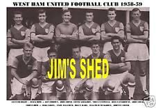WEST HAM UNITED F.C. TEAM PRINT 1958-59