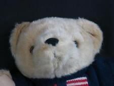 BIG RALPH LAUREN BROWN TEDDY BEAR BLUE KNIT SWEATER RL FLAG 1996 PLUSH STUFFED