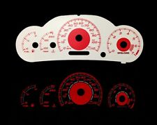 00-05 Cavalier w/ RPM Red Indigo Glow White Gauges 00 01 02 03 04 05 (I-456)