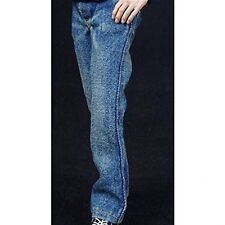 "1:6 Scale Men Blue Jeans Trousers Washing Effect Model for 12"" Action Figure"