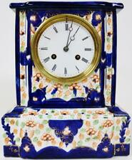 Amazing ANTIQUE FRENCH SEVRES PORCELAINE manteau Horloge peinte à la main Décoration