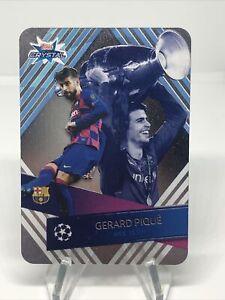 Gerard Pique 2019-20 Topps Crystal UCL Master #124 FC Barcelona