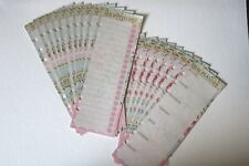 Filofax A5 Organiser Planner Note Paper ROSE  Weekly List & Check Sheets x 20