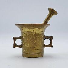 Vintage Miniature Brass Mortar and Pestle Set