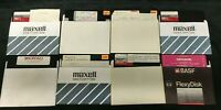 Commodore 64 - 8 Program Disks - Math Graphing 3D CAD Checkbook Finance FLOPPY