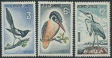 CAMBODGE N°147/149* Oiseaux Martin-pêcheur. 1964, CAMBODIA Birds Sc#132-134 MLH