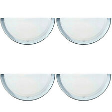 4 x Eglo 83156 Planet1 Wall Uplighter Fittings 60W ES Polished Chrome