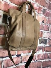 Kenneth Cole Large Leather Cross Body Travel Bag with Strap
