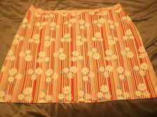 Duck Head Woman Plus 24W Pink Striped Floral Print Skirt w Bow at Waistband