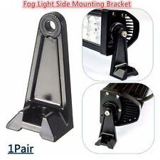 1Pair Fog/Driving Light Bar Side Mounting Aluminum Bracket Heavy Duty Die-cast