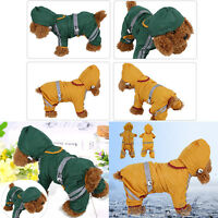 Dog Coat Clothes Jacket Reflective Rain Pet Water Resistant XS/S/M/L/XL/XXL HG