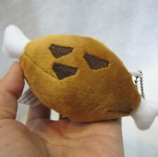 Monster Hunter Grilled Meat Plush Barbecu With Bone Mini Plush Toy Soft Keychain