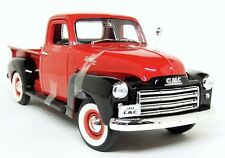 Road Signature 1/18 Scale - 1950 GMC Pick-Up Red / Black Diecast Model Car