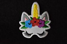 #5144 Licorne Fleur Petit Poney Broderie à Repasser Appliqué Partch
