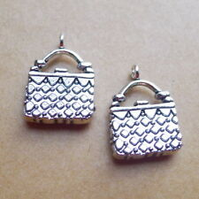 10x Lady's Elegant Handbag Charms Tibetan Silver Pendant DIY Bracelet 14*18mm