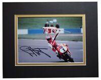 Carl Fogarty Signed Autograph 10x8 photo display Superbikes Sport AFTAL COA