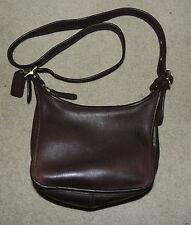 Chocolate Brown Coach Crossbody Purse Bag, Janice's Legacy, 9950, Leather