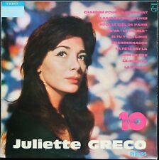 JULIETTE GRECO N° 6 10 ANS DE CHANSONS 25CM 10'' BIEM PHILIPS B 76.479 R