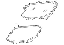 Genuine Mercedes-Benz Headlamp Assembly 222-906-21-04