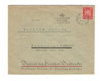 Karlsruhe 1924 Briefumschlag nach Weingarten, Sonderstempel Ffter Messe
