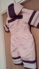 H & M baby 4_6 months warm girl cosy winter snow suit muted pink used good to go