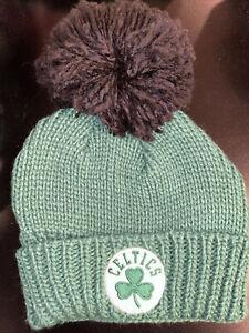 Boston Celtics Pom Winter Hat Adidas Free Shipping