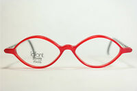 Jean Lafont Paris Lotus 48 3180 46[]18 145 Rot Schwarz oval Brillengestell NEU