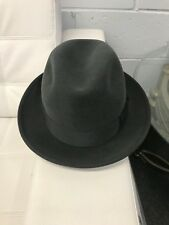 Authentic Vintage Antique Selco Huckle Ajax Suede Fedora Hat Brand New 58 7 1/4