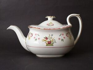 Wedgwood BIANCA Colonial Williamsburg Teapot Perfect Never Used