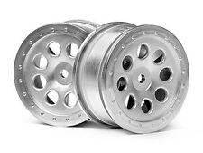 HPI Racing Mini-Trophy ST-8 Wheel Matte Chrome 0mm Offset (2) HPI103037