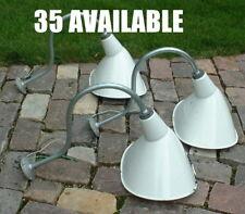 """(1) Benjamin 10x13"""" White Porcelain Gooseneck sign angle Light VTG Industrial UL"""