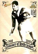 ✺New✺ 2008 ST GEORGE ILLAWARRA DRAGONS NRL Card JOHNNY KING Centenary