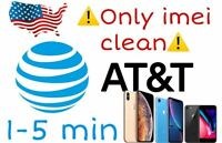 🎗️Service Unlock iphone 5/5s/6/6s/7/8/Plus/X/XR/XS/+ AT&T1-15 Minutes🎗️