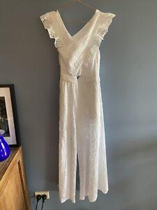 ALICE MCCALL Limonada Jumpsuit White Size 6 RRP $405