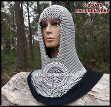Aluminium Chain Mail Hood Light Weight Anodized Aluminum chainmail coif  u-neck