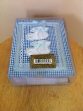 """Pioneer Photo Albums Baby Sewin Album Covered w/ Blue Fabric Bootie Design 4X6"""""""