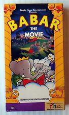 Babar - The Movie ~ Rare New Sealed VHS Movie Video Tape Kids Animated Cartoon