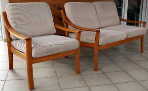 KNOLL WILHELM SOFA + SESSEL, Zweisitzer Sofagarnitur Mid Century 60er Vintage