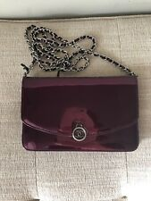 CHANEL wallet on chain Patent Purple