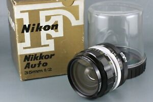 Nikon Nikkor-O Auto 35mm f/2 non AI Wide Angle MF Lens With Box and Case #216
