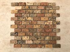 Mosaico in TRAVERTINO, pietra per rivestimento pareti interni / esterni