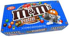 M&M'S Pretzel Chocolate Candy Singles Size 1.14-Ounce Pouch 24-Count