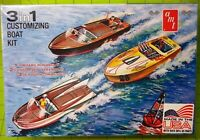 KIT - 3 in 1 CUSTOMIZING BOAT WITH TRAILER SEALED KIT 1/25 AMT