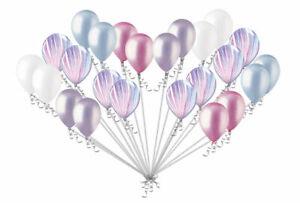 24 pc Fashion Agate Pearl Pink & Lilac Latex Balloons Princess Unicorn Birthday