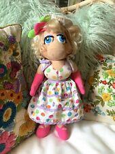 "Soft plush 15 1/2"" Miss Piggy from Sesame Street Sun Dress And Hat"